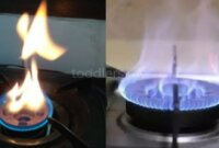 Tips Membuat Api Kompor Gas Jadi Biru Lagi